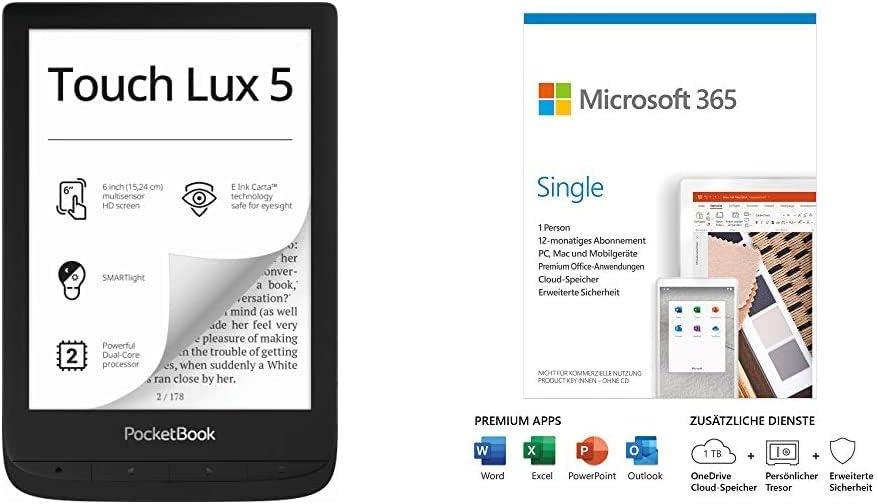 Pocketbook E Book Reader Touch Lux 5 6 Zoll Computer Zubehör