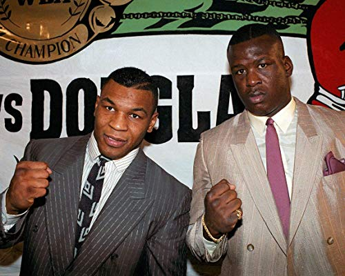 Mike Tyson & Buster Douglas 8 x 10 * 8x10 GLOSSY Photo Picture