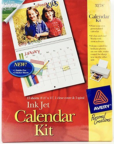 Avery 3278 Ink Jet Calendar Kit