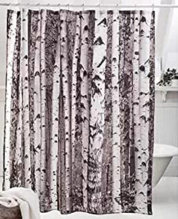Wonderful Moldiy 100% Polyester Birch Pattern Shower Curtain, 72 X 72 Inches