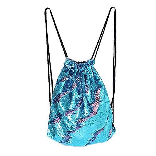 Deer Mum Sequins Glitter Backpack Mermaid Magic Drawing Dance Shoulder Bags for Girls