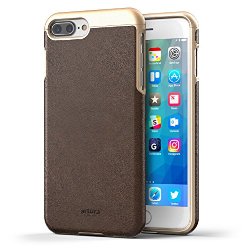 Hickory Collection (Encased Vegan Leather iPhone 8 Plus Case Premium Artura Collection (Hickory/Gold))
