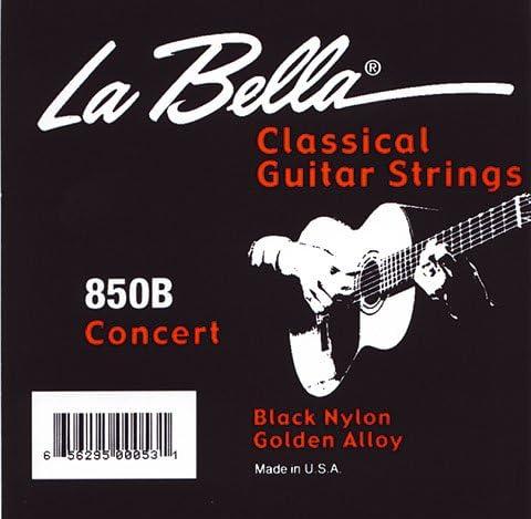 La Bella 850 B guitarra de concierto Concert cuerdas-Set black ...