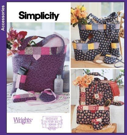 Simplicity Pattern 5606/Fat Quarter Club Bags & Accessories by Simplicity (Quarter Club Fat)