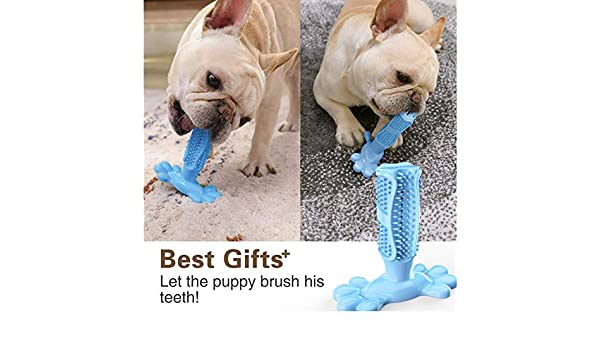 HUIYAOSHUYU Cepillo de Dientes para Perros Stick Silicone Toy ...