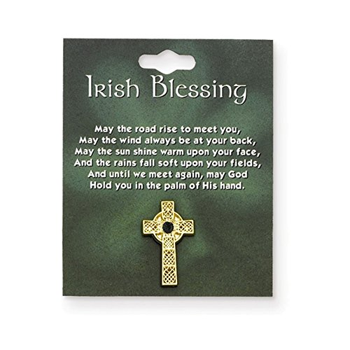 (Jewelry Adviser Gifts Celtic Cross w/Green Stone Lapel Pin)