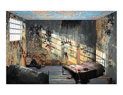 Halloween Asylum Hospital Backdrop wall covering Banner Apocalypse HAUNTED HOUSE]()