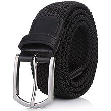 "Weifert Men's Stretch Woven 1.3"" Wide Elastic Braided Belts"