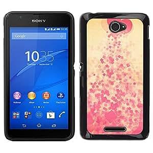 EJOY---Cubierta de la caja de protección para la piel dura ** Sony Xperia E4 ** --Corazón escupir Modelo rosado