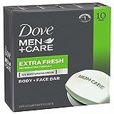 #2: Dove Men+Care Body and Face Bar, Extra Fresh, 4 oz, 10 Bar
