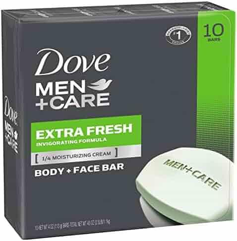 Dove Men+Care Body and Face Bar, Extra Fresh, 4 oz, 10 Bar