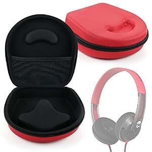 DURAGADGET Estuche / Carcasa Para Los Auriculares SkullCandy Uprock - En Color Rojo - Diseño Ergonómico - Alta Calidad