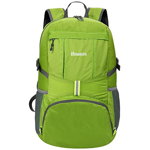 Homdox 35L Ultra Lightweight Hiking Daypack, Foldable Packable Backpack Durable Outdoor Sport Camping Travel Backpack for Men and Women