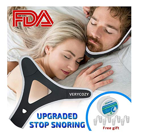 Snoring Chin Strap Snore Reduction Adjustable Snore Relief Sleep Aid Devices Chin Strap Snore Stopper,Chin Strips Snoring Solution Stop Snoring Chin Strap for Men