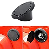 Parts Accessories Best Deals - Black Powder Coated Steel Gas Fuel Tank Cap Cover for Jeep Wrangler JK JKU Unlimited Rubicon Sahara X Off Road Sport Exterior Accessories Parts 2007 2008 2009 2010 2011 2012 2013 2014 2015 2016 2017