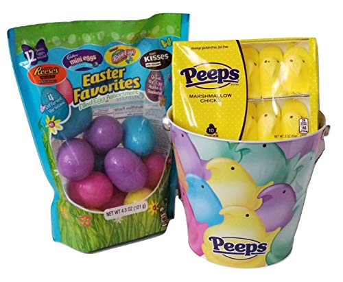 Set Princess Bucket (Ruz Peeps Marshmallow Chicks and Hershey Chocolate Egg Hunt Tin Bucket Easter Set!)