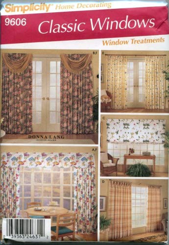 Simplicity 9606 Home Decor Sewing Pattern Drapes Swags, used for sale  Delivered anywhere in USA