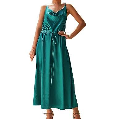 Btruely Mujer Vestidos Largos Verano Casual Falda Vintage Boho ...