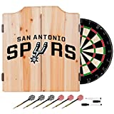 NBA San Antonio Spurs Wood Dart Cabinet Set