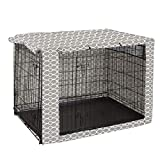 "Dog Crate Cover Durable Polyester Pet Kennel Cover Universal Fit for Wire Dog Crate - Fits Most 24"" inch Dog Crates - Cover only -  Pethiy"