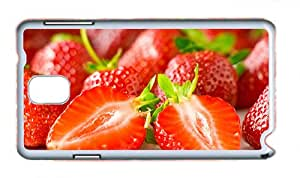 Cute Samsung Note 3 cover sparkly Delicious strawberry berry PC White for Samsung Note 3/Samsung N9000