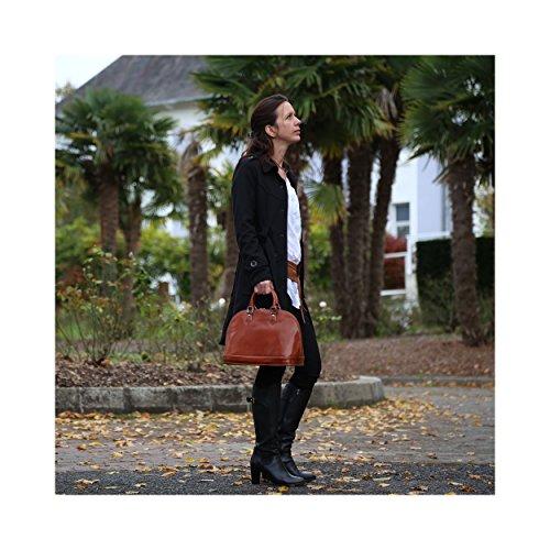 Marron VENISE de haute 100 main Sac Cuir qualité à Olivia femme Noir cuir Organiseur en modèle Sac Cuir OFFERT wPABUw0qSx