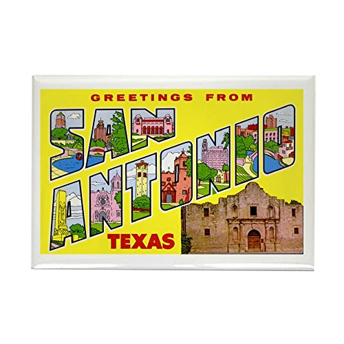(CafePress San Antonio Texas Greetings Rectangle Magnet Rectangle Magnet, 2
