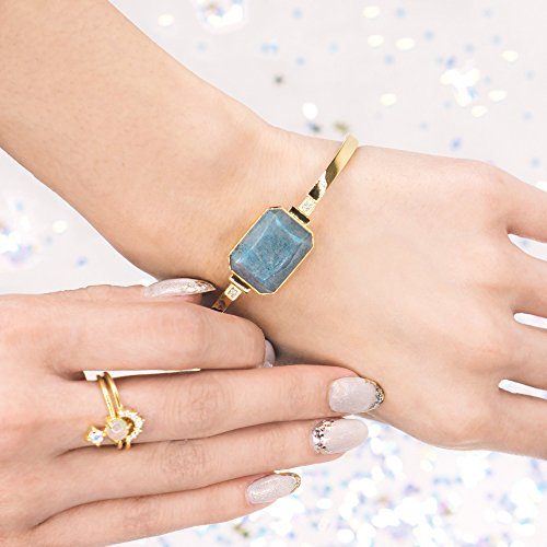 Ringly - Activity Tracker / Smart Bracelet, Gold, Labradorite