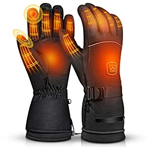 Balhvit Winter Heated Gloves for Men Women, Rechargeable Electric Motorcycle Gloves and Ski Gloves, Cold Weather…