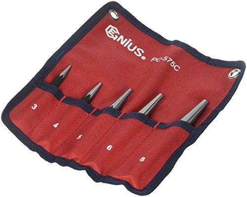 Genius Tools 5 Piece Center Punch Set PC-575C ()