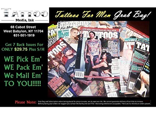 Tattoos For Men Magazine Grab Bag - 7 Issues For ONLY $29.75