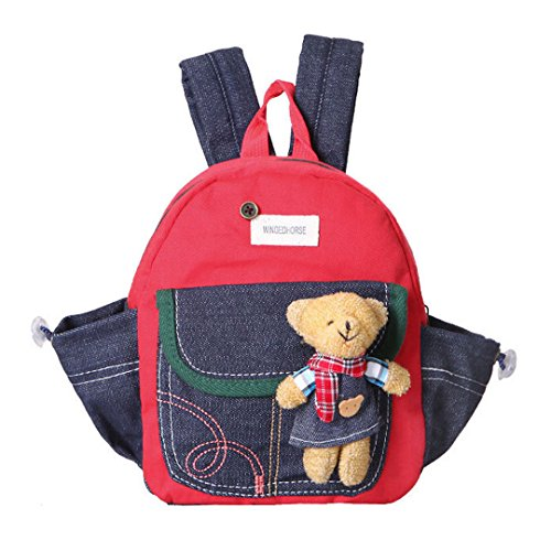 Aisi Toddler Kid Walking Safety Harness Backpack (Red)