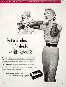1952 Ad Kotex Sanitary Napkin Designer Fashion Druggist Feminine Hygiene Pads - Original Print Ad