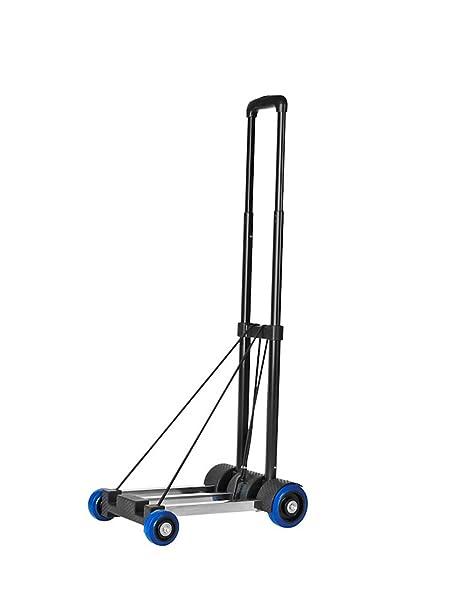 LXF Carrito de equipaje pequeño plegable remolque cuatro ruedas carros para comprar carboats hogar tirar de