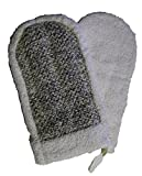 MAGIT Horsehair Glove and Cotton Sponge, Grey