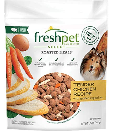 Freshpet Select Roasted Meals Tender Chicken With Crisp Carrots & Leafy Spinach Dog Food Recipe, 5.5 Lb (Pack of 4)