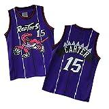 Carter Jerseys Basketball Athletics Jerseys Retro Jersey 15 Youth/Kids (S, Purple)