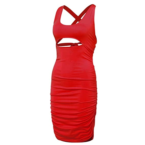 Amazon.com: Solid Skirt Woman Square Collar Slim Cocktail Party Elegant Pencil Dress Mini Woman Casual Sleeveless Shirt Dress Toponly: Appliances