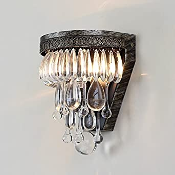 Bespd Kreative American Crystal Antike Lampen Wohnzimmer Korridore