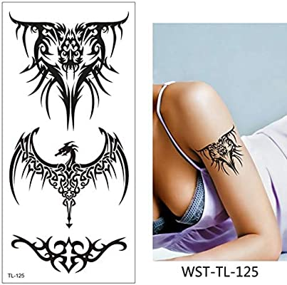 HXMAN 5 Pctemporary Pecho Tatuaje Pegatina Colorida Falsa Tatoo ...