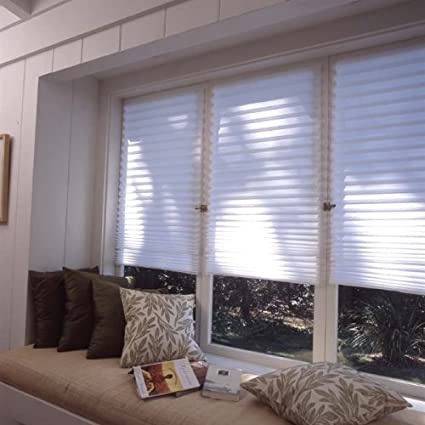 """6-Pack 36/"""" x 72/"""" Original Light Filtering Pleated Paper Shade White"""