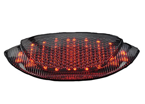 Bright2wheels Moto Smoke Integrated Tail Light for HONDA 09-12 CBR 600RR; Above Exhaust Conversion