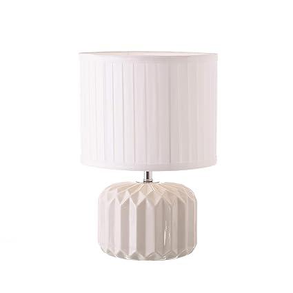 Lámpara de mesita de Noche Moderna Blanca de cerámica para ...