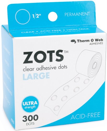 (Zots Clear Adhesive Dots-large 1/2