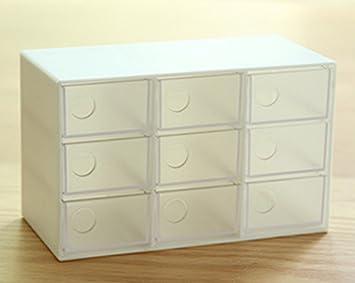 gespout plástico cajas de almacenamiento cajas de almacenamiento de moda nueve rejilla para joyería simple diseño: Amazon.es: Hogar