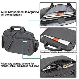 15-15.6 Inch (Black, Blue, Grey, Matte Grey) Laptop Bag, Zikee Water Resistant 360° Shock-Proof Protective Multifunctional Notebook Shoulder Messenger Bag, for Business, Traveling, College and Office