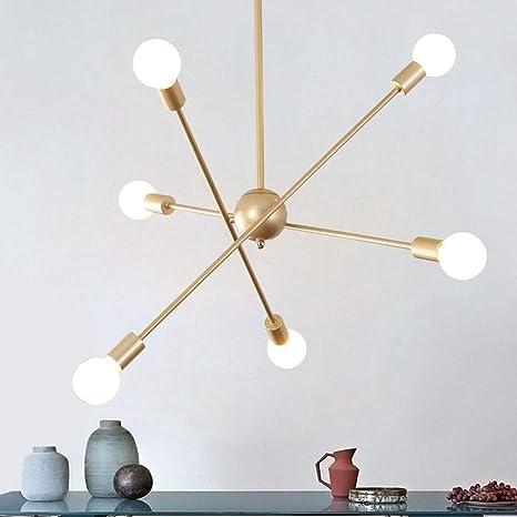 Sputnik Modern Araña de iluminación Ajustable Giratorio ...