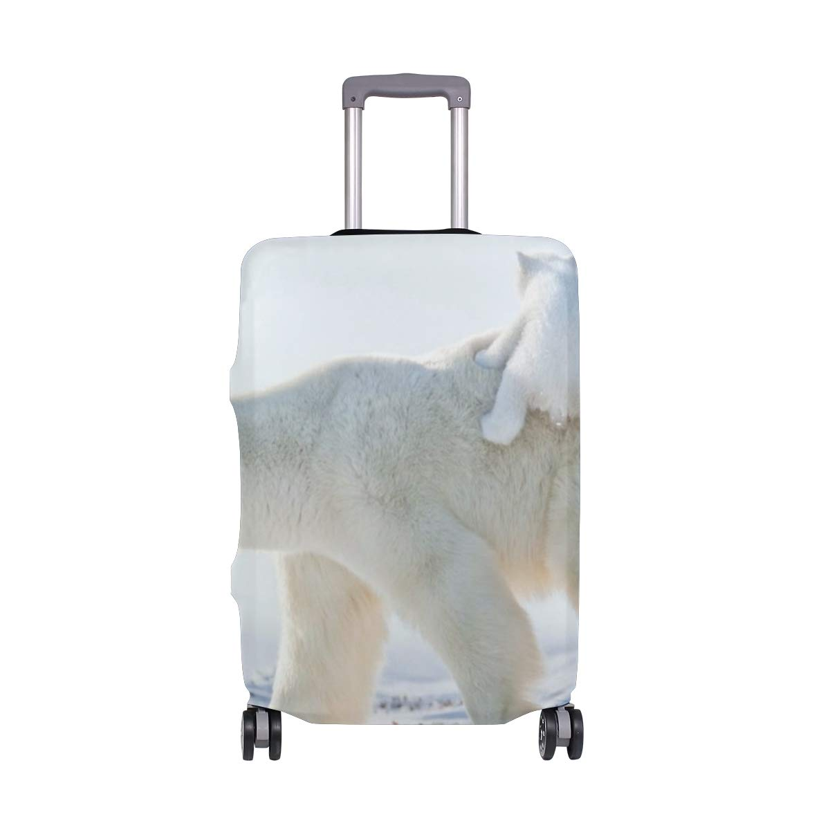 Polar Bear Love Travel Luggage Cover Suitcase Protector Fits 18'' - 32''