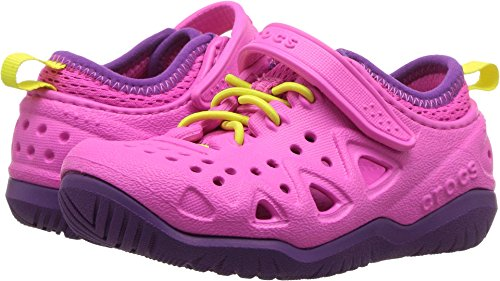 Crocs Kids' Swiftwater Play Shoe, Neon Magenta, 13 M US Litt