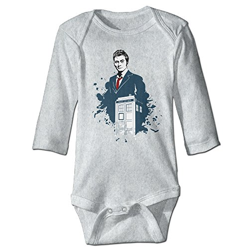 [DETED Doctor Who David Tennant Funny Newborn Baby Romper Jumpsuit Size18 Months Ash] (David Tennant Who Costume)